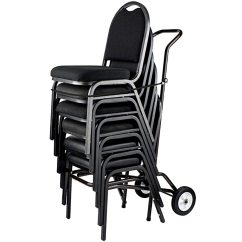 Public Seating Chairs Small Leather Lounge Chair And Ottoman National 9000 Series Stack Dolly Nps
