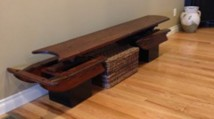 Repurposed old sled: now a Bench!