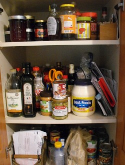 kitchen garbage can storage black cabinets declutter your