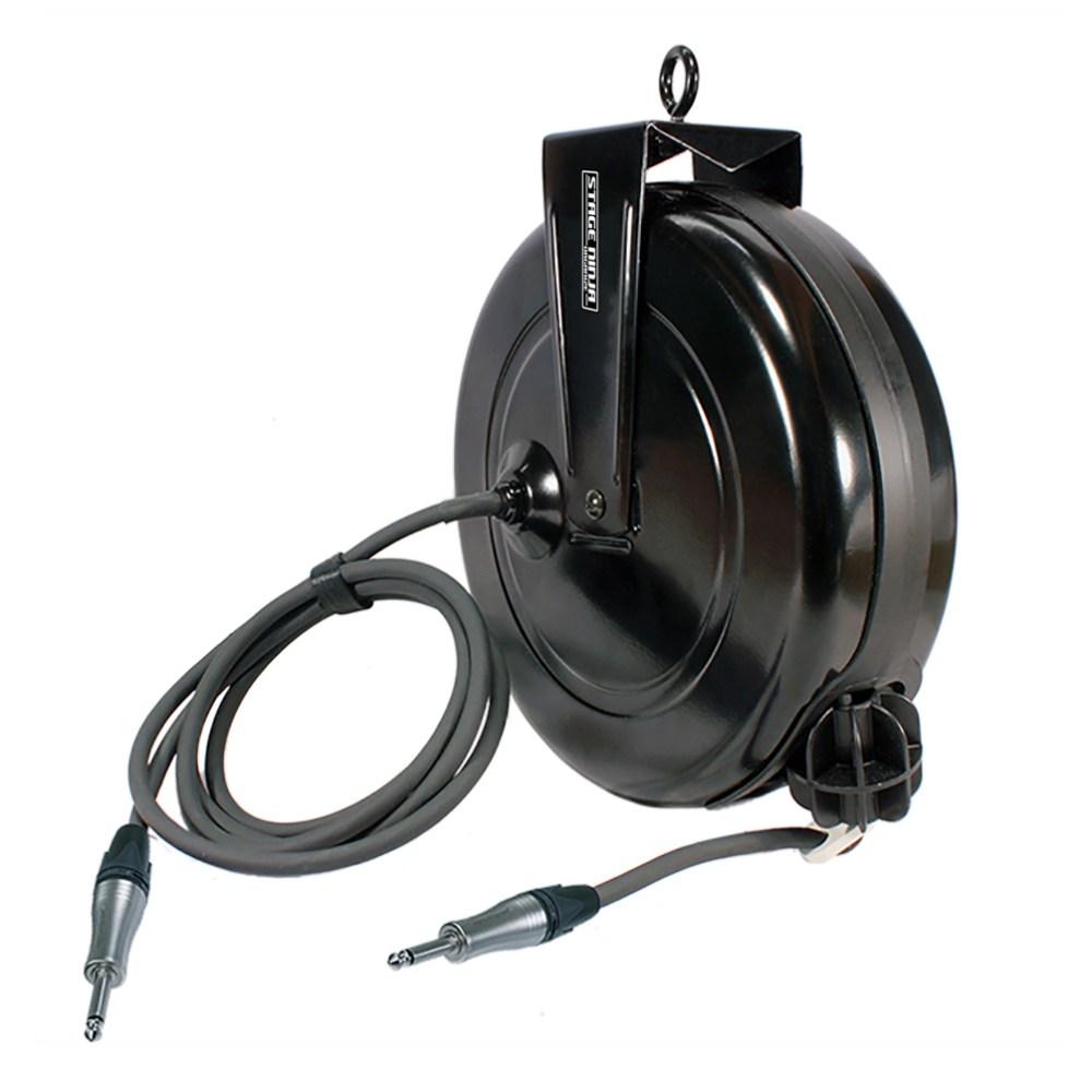 medium resolution of  spk 40 qi stage ninja 40 foot retractable neutrik speakon speaker cable reel