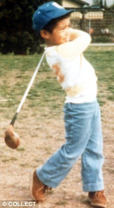 Tiger Woods as a child