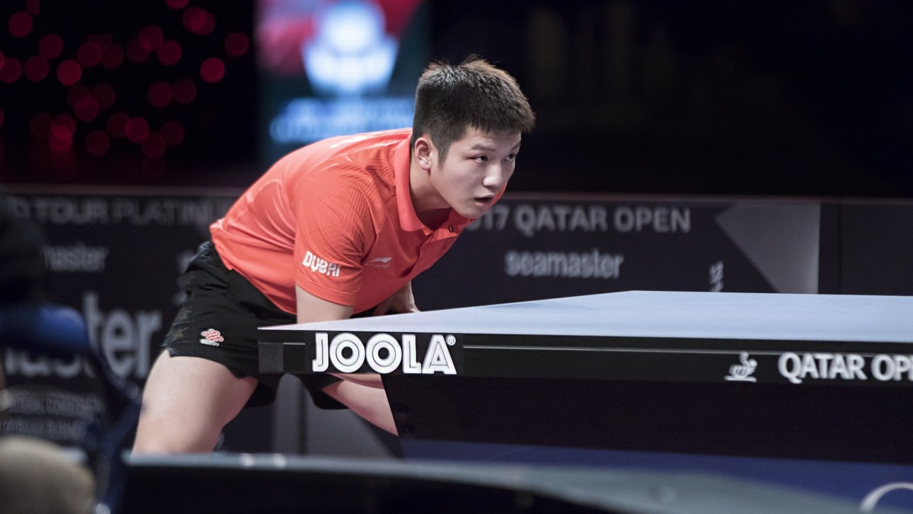 table tennis stance and ready position