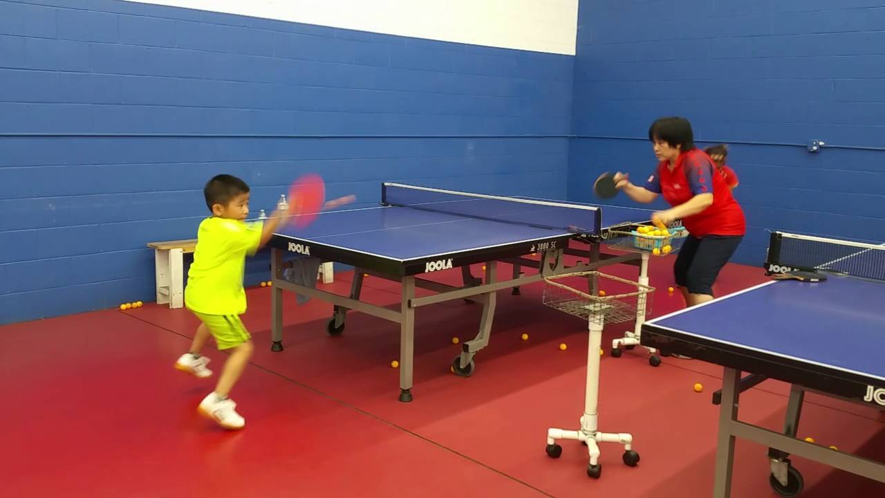learn to play table tennis on your knees - like a 6 year old kid