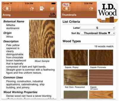 Wood identification app for home stagers