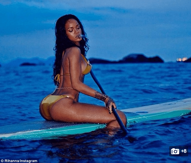 RIHANNA INSTAGRAM STAND UP PADDLE