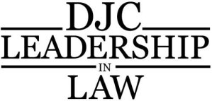 leadership in law logo for djc