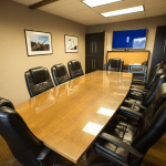 Meeting room of the SK&H Bend office.