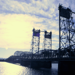 The Columbia River interstate bridge.