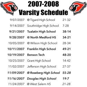 LHS Varsity Schedule.