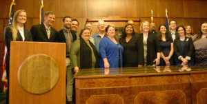Basic Rights Oregon and supporters including Stahancyk Kent & Hook shareholder Laurel Hook joined Governor Kate Brown for Thursday May 21 for the signing of House Bill 2307 at the Oregon State Capitol.