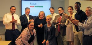 Attorneys and staff at Stahancyk Kent & Hook's Portland office celebrated the launch of Divorce on Demand September 1.