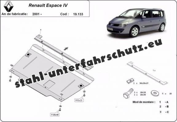 Unterfahrschutz für Motor der Marke Renault Espace 4