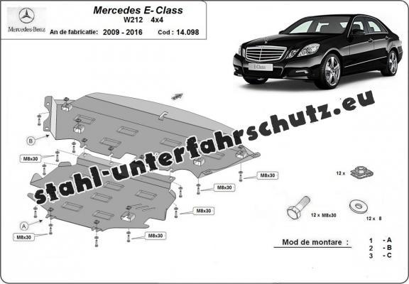 Stahl Unterfahrschutz für Mercedes E-Classe