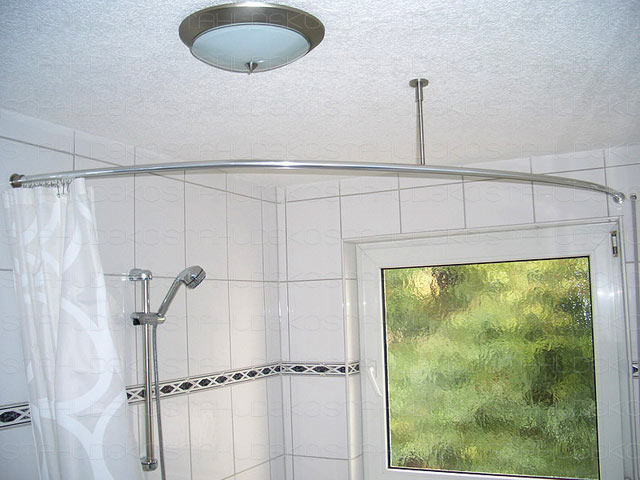 shower curtain rod for quadrant shower