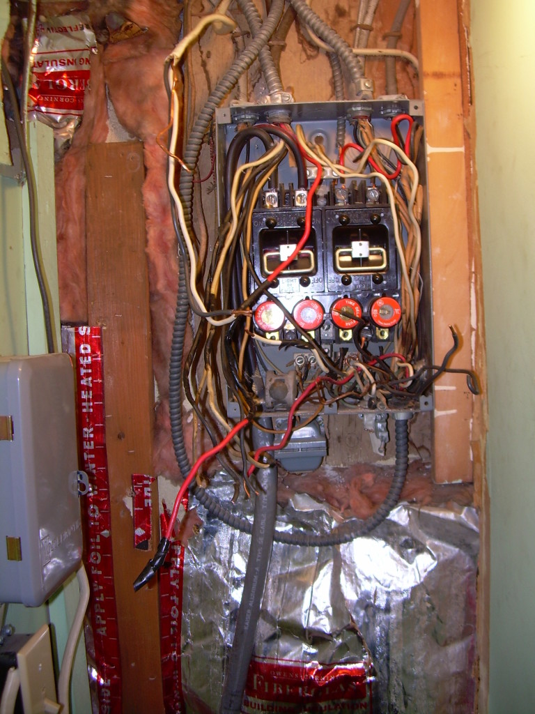 hight resolution of before illegally wired panel box