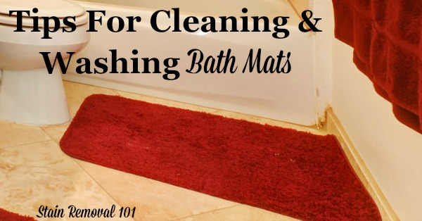 Tips For Cleaning & Washing Bath Mats
