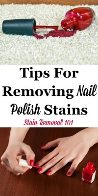 Tips For Removing Nail Polish Stains & Spills