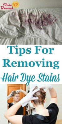 Removing Hair Dye Stains From Surfaces And Your Skin