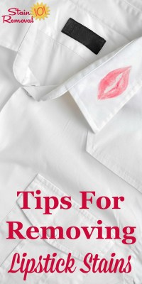 Stain Removal Lipstick Tips And Hints