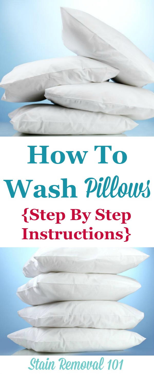 How To Wash Pillows  Dry Them So Theyre Not Lumpy