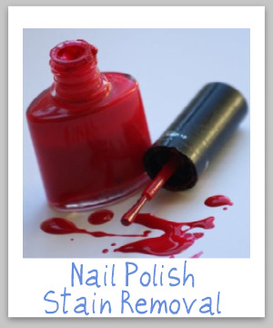 How To Remove Nail Polish Stains From Clothing Upholstery And Fabric