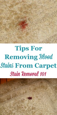 Removing Blood Stains From Carpet: Instructions & Tips