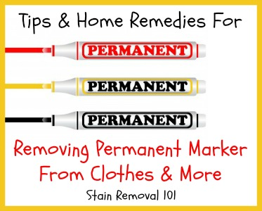 removing permanent marker from clothes more tips home reme s