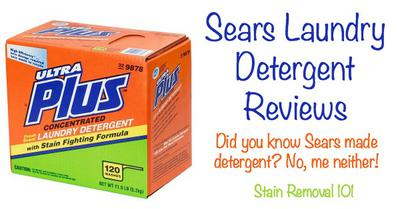 Sears Laundry Detergent Ultra Plus Powder Reviews
