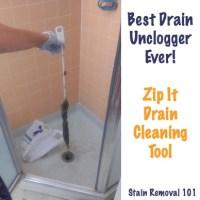 Simple & Chemical Free Drain Unclogger: Zip It Drain ...
