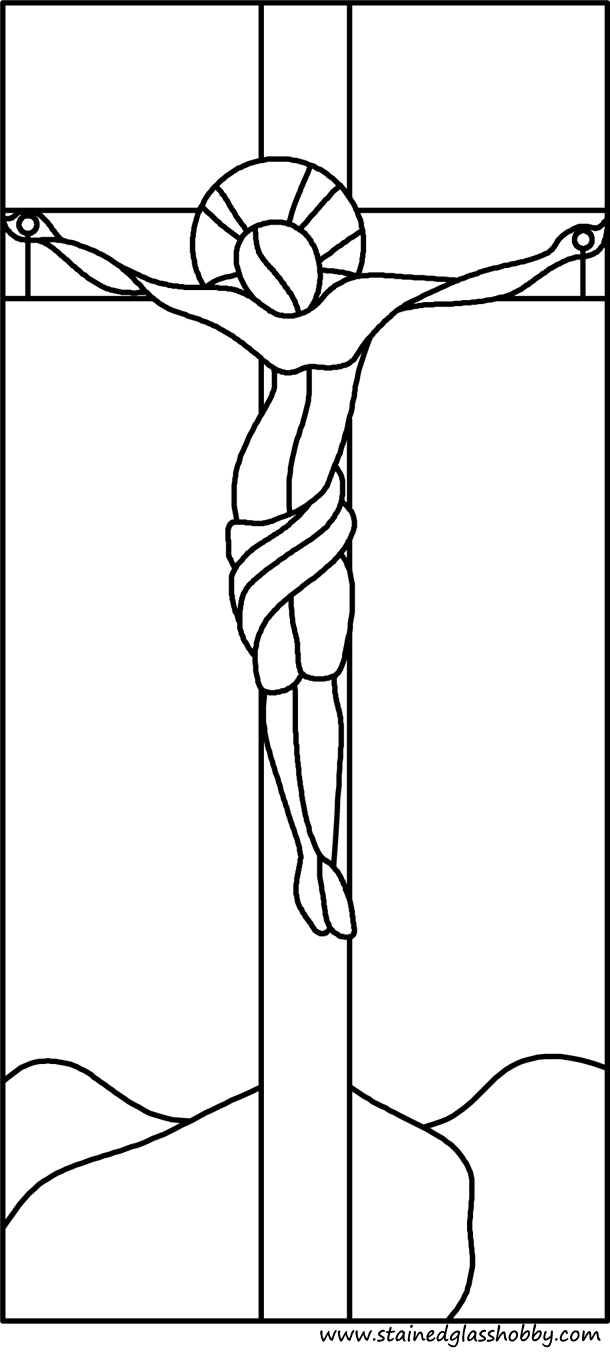 Holy Cross panel for stained glass