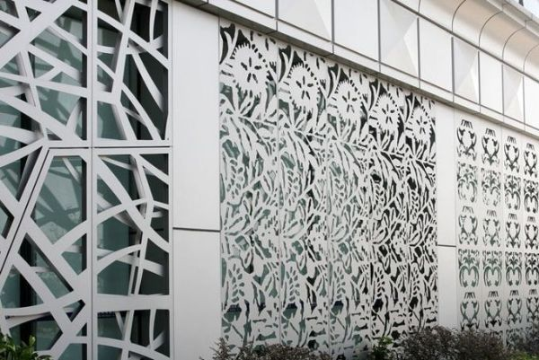 Metallic Color Aluminum Screen Panels For SunshadesLouver