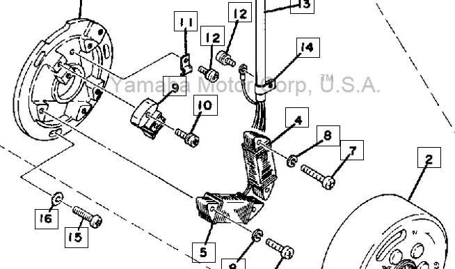 yamaha 125 enduro engine diagram