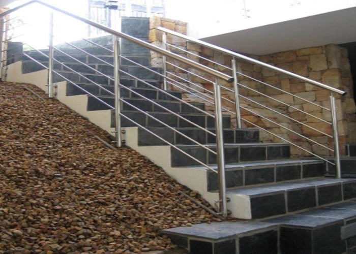 Customized Color Stainless Steel Staircase Railing For Restaurants | Stainless Steel For Stairs | Contemporary | Modern | Outdoor | Home | Balustrade