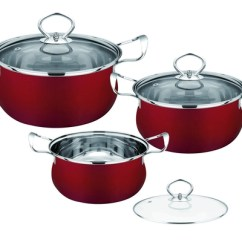 Kitchen Pot Sets Pantry Storage Ideas Cookware On Sales Quality Supplier Red Pots And Pans Set Easy Cleaning Durable Stainless Steel