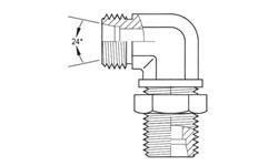 90° Light Duty DIN Bulkhead Union Elbow Stainless Steel