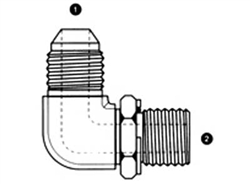 Male JIC/AN to Male BSPP 90 Elbow Adapter-SS-9059