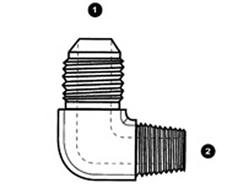 Male JIC/AN to Male BSPT 90 Elbow Adapter-SS-9063