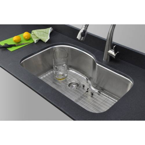double bowl kitchen sink table placemats wells sinkware 18 gauge offset single undermount ...