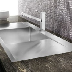 Double Bowl Kitchen Sink Decorating Blanco Flow Inset/flushmount Microedge 1 Hole ...