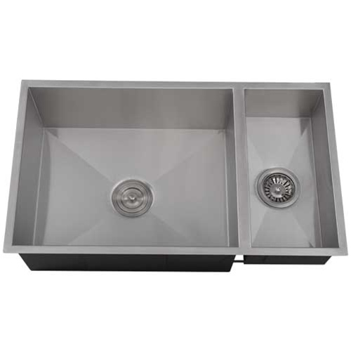 Ticor S6502 Undermount Stainless Square Kitchen Sink