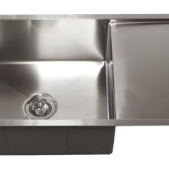 Kitchen Draining Board Backsplash Stone 36 Stainless Steel Undermount Sink W Drain Tz3619cfs