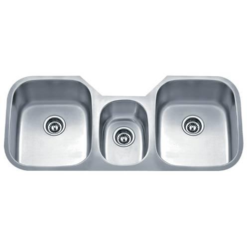 triple kitchen sink light pendants bowl sinks stainless steel wells sinkware 18 gauge undermount package ssu4621 979