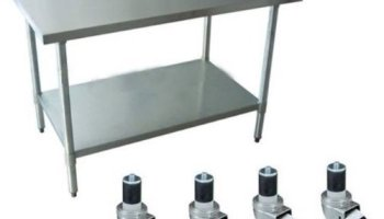 Apex Worktable Stainless Steel Food Prep X X Height - Commercial grade stainless steel table