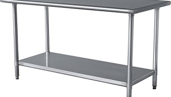 AmGood Stainless Steel Table Drawer Metal Drawer For Prep Work - 18 x 48 stainless steel work table