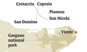tremiti map