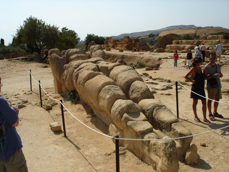 Atlas to guard the Temple of Zeus in Sicily again -