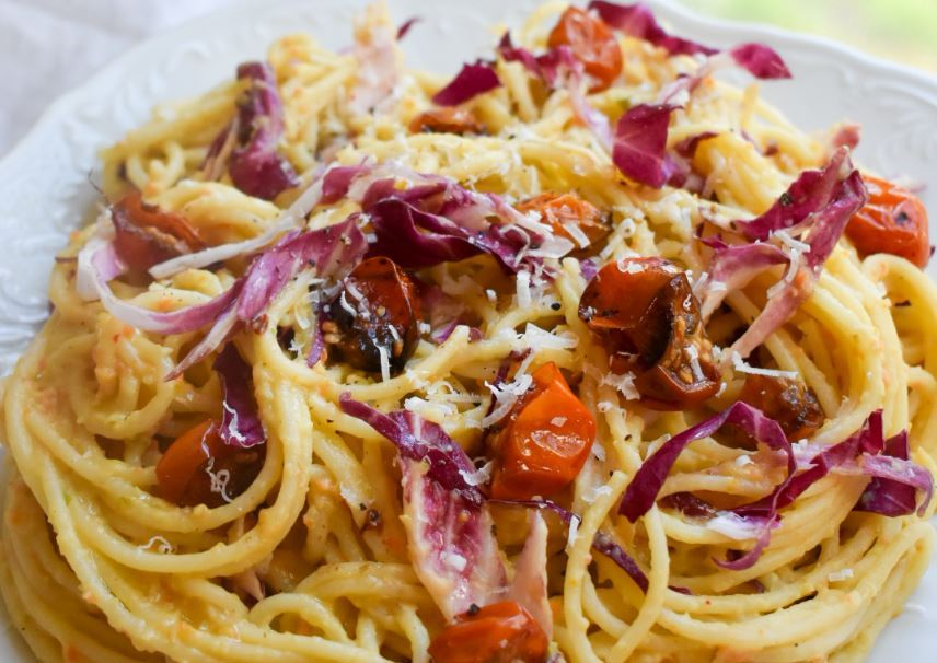 Pasta with pureed bean sauce, roasted tomatoes and radicchio – Lowell Sun