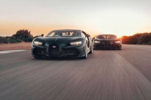 Watch the Bugatti Chiron Super Sport 300+ and Chiron Pur Sport at Nardò Technical Center