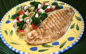 Fish fillet a perfect pairing for Italian staple ricotta salata
