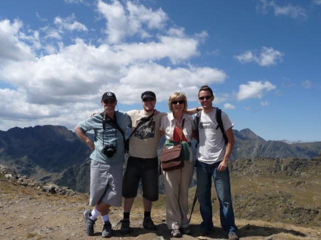 Bruce, Evan, Thea and Hayden at La Coma, Andorra